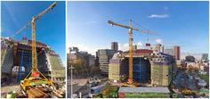 Liebherr Construction –Tower cranes running on rails