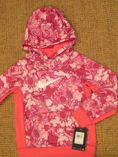 a2d215e557097 Nike girl s size 6 hoodie therma fit jacket pink new  44 tag