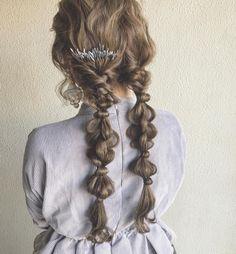 カ⃣ワ⃣ノ⃣ヨ⃣ウ⃣ヘ⃣イ⃣さんはInstagramを利用しています:「✴︎ #外国人風カラー に初めて挑戦した#ツインテール 編み★ やってみるとカワイイ。もっと新しいカワイイを創れるように頑張ります。 ✴︎ ✴︎ @pluiehair ✴︎ ✴︎ ✴︎ またブログ更新してるんでよろしくです★ ✴︎ #ヘアアレンジ #ヘアセット…」 Kawaii Hairstyles, Pretty Hairstyles, Easy Hairstyles, Long Length Hair, Hair Arrange, Hair Setting, Hair Ribbons, Hair Reference, Aesthetic Hair