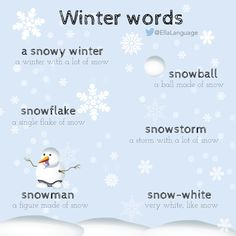 Vocabulary: Winter words