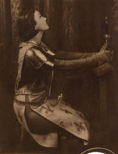 Katherine Cornell as Joan of Arc Joan D Arc, Saint Joan Of Arc, St Joan, Jeanne D'arc, Female Armor, Female Knight, Santa Lucia, Character Inspiration, Character Design