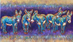 Barbara Meikle ~ Always Outstanding in Their Field...fun the donkeys #ayearinthedonkeylife #myfavoritecoloriswild #barbmeiklefineart
