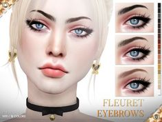 Fleuret Eyebrows N111 by Pralinesims at TSR • Sims 4 Updates