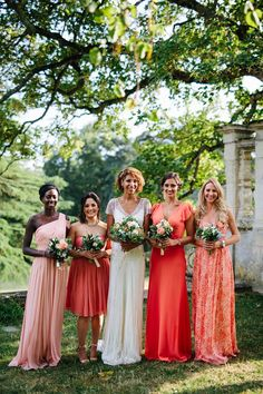 Anthropologie bridesmaid dresses | Image by Helen Abraham Photography