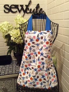 Boys sports apron by Sewcutesewing1 on Etsy