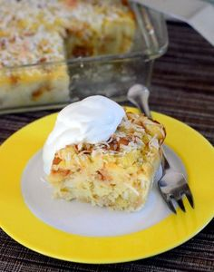 Piña Colada Bread Pudding - Baking Bites