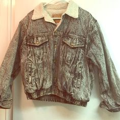 Jean jacket Acid washed jean Jacket with wool lining Stay tuned Jackets & Coats Jean Jackets