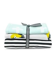 Brika Burp Cloth- Set of 3  Multi
