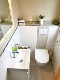 New guest toilet HSI Steinfurt – heating-sanitary installation - Modern Guest Toilet, Downstairs Toilet, Wc Design, House Design, Interior Design, Heating And Plumbing, Plumbing Installation, Bathroom Inspiration, Small Bathroom