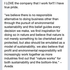 I love the company that I work for!  #aveda  #avedalife  #awareness  #recycle  #thenewearth  #newbusiness  #business  #beauty  #motherearth  #green  #ecoeffective  I love the company that I work for!  #aveda  #avedalife  #awareness  #recycle  #thenewearth  #newbusiness  #business  #beauty  #motherearth  #green  #ecoeffective