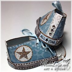 *Converse paper baby booties
