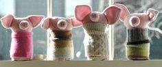 Wool RibTickler Pig Deidra by lorinichols on Etsy, $38.00