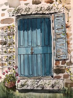 Excited to share the Arches Watercolor Paper, Pen And Watercolor, Watercolor Landscape, Watercolor Illustration, Watercolor Flowers, Watercolor Paintings, Watercolors, Watercolor Portraits, Ink Painting