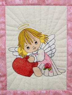 Mylar Darling Angels Embroidery Collection