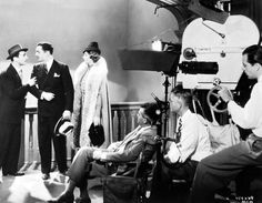 William Powell and Myrna Loy filming the Thin Man