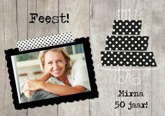 Hippe Uitnodiging verkrijgbaar bij Kaartje2go / Cute Invitation available at Kaartje2go.