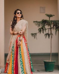 A mermaid-cut lehenga or a flared lehenga? Red or pastel? Make the right outfit decision while browsing through our list of new lehenga collection by top 5 designers. Indian Wedding Outfits, Indian Outfits, Indian Clothes, Desi Clothes, Bridal Outfits, Indian Weddings, Pakistani Dresses, Indian Dresses, Pakistani Suits