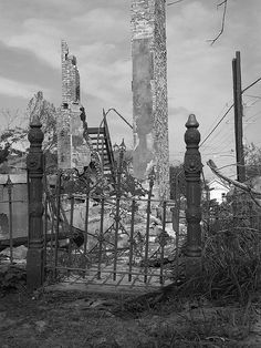 New Orleans ruins, post-Katrina.
