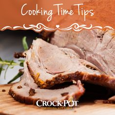 Do you know how long to cook a turkey, roast, or ham in your slow cooker? Use our tips page to make sure your dinner comes out perfectly every time. #CrockPot