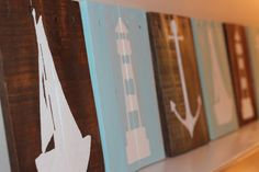 Nautical Pallet Signs Reclaimed Wood Wall by CoastalCoveCreations