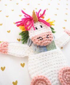 Rainbow unicorn Gift Card Holder | www.1dogwoof.com