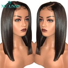 Online Shop Glueless Brazilian Human Hair Lace Front Wigs Body Wave For Women With Baby Hair Preplucked Density Black Remy Hair xcsunny Cheap Human Hair Wigs, Remy Hair Wigs, Human Hair Lace Wigs, Remy Human Hair, Blonde Lace Front Wigs, Bob Lace Front Wigs, Wig Hairstyles, Straight Hairstyles, Brazilian Lace Front Wigs