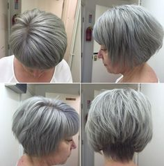 Stacked+And+Layered+Gray+Bob