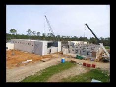 SPEED OF CONSTRUCTION:  After Hurricane Katrina, Total Precast Concrete solutions rapidly became the format of choice for owners, architects and construction teams. View this time lapse video of the enclosure of an elementary school in Long, Beach, MS. Pre-insulated brick inlay architectural wall panels offer accelerated construction, durability, safety and low maintenance