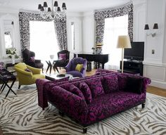 The designer personally selected the furniture, rugs and wallpaper to suit her legendary s...