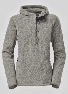 Cozy Grey North Face Sweatshirt....carrie surprised me with it for christmas and its wonderful!!  Love love it!!