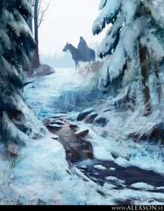 Winter by Alexander Forssberg   Fantasy   2D   CGSociety