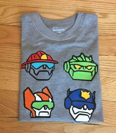 Rescue Bots, roll to the rescue! Your little one will feel like a part of the team with their favorite characters on their shirt! Leave a note to seller with the name and age for the order. Care Instructions: machine wash, dry on low heat and warm iron if needed This item will ship within 5-7 business days via USPS with priority shipping available if you need the item sooner. Please leave a note to seller.