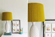 DIY: sweater lampshade cover