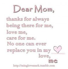 7 Best Thank You Mom Quotes Images Thoughts Thinking About You