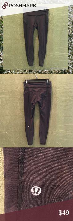 LULULEMON ATHLETICA Black Leggings Excellent Used Condition. Side Zippers. lululemon athletica Pants