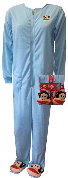 NWOT PAUL FRANK Santa Julius Monkey White FOOTED SLEEPER Size 3 mo OR 6 mo