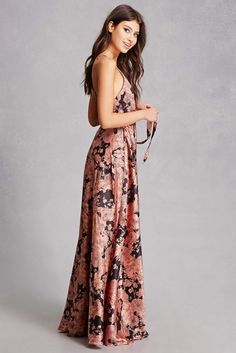 Indikah Satin Maxi Dress