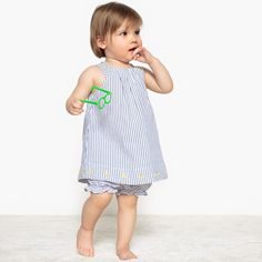 Image Striped Dress and Bloomers Set, 1 Month-3 Years La Redoute Collections