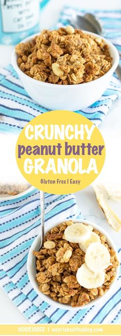 Crunchy Peanut Butter Granola | recipe | Granola | recipe | gluten free, protein-packed | breakfast cereal or snack idea
