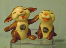 Vintage Gobel Thumper Salt and Peppers Shakers