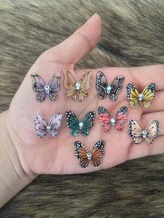 3d Nails, Acrylic Nails, Gel Nail, Butterfly Nail, Balloons, Nail Designs, Creations, Nail Art, Earrings