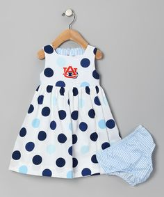 Sara Lynn Togs Auburn Blue Dress & Bloomers - Infant & Toddler