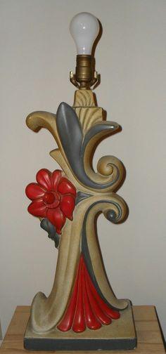 Mid Century Continental Art Atomic Flower Lamp RARE and Unusual Design | eBay