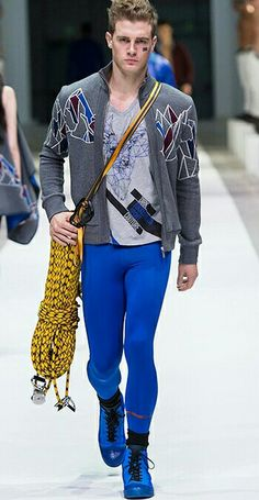 Bikkembergs meggings blue