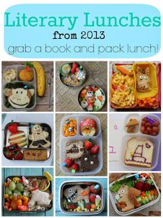 Literary Lunches Round Up {2013} - Grab a book and pack lunch! - mamabelly.com