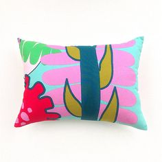 Your place to buy and sell all things handmade Scandinavian Pillows, Seaside Home Decor, Floral Pillows, Tropical Vibes, Marimekko, Pink And Green, Cushions, Throw Pillows, Boutique