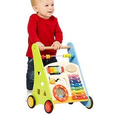 Young Ones Wooden Push Along Activity Walker