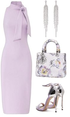 Discover outfit ideas for The Bull: Taurus made with the shoplook outfit maker. How to wear ideas for lilac dress and dior bag Classy Dress, Classy Outfits, Stylish Outfits, Cute Outfits, Summer Outfits, Rock Outfits, Emo Outfits, School Outfits, Winter Outfits