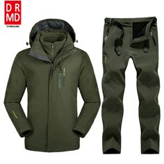 ee1cae9bef Plus Size Men Skiing Ski wear Waterproof Hiking Outdoor jacket Snowboard  jacket Ski suit men Large Size Snow jackets-in Skiing Jackets from Sports  ...