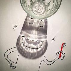 Vincent Bal é um cineasta belga. Seus filmes e comerciais já foram premiados várias vezes.  Entretanto, o longo processo de produção dos filmes é algo que sempre o deixou um pouco frustrado.  Um dia, casualmente, ele teve uma ideia que acabou se transformando em um projeto maior.  Todos os dias agora, ele publica um desenho onde ele parte das sombras de objetos comuns, projetadas no papel, para criar.